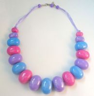 Retro Style Chunky Candy Bead Necklace.
